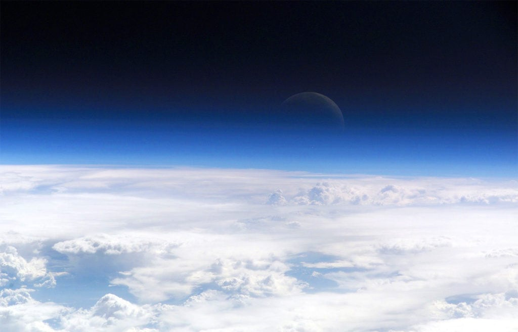 Атмосфера Земли (фото с МКС)