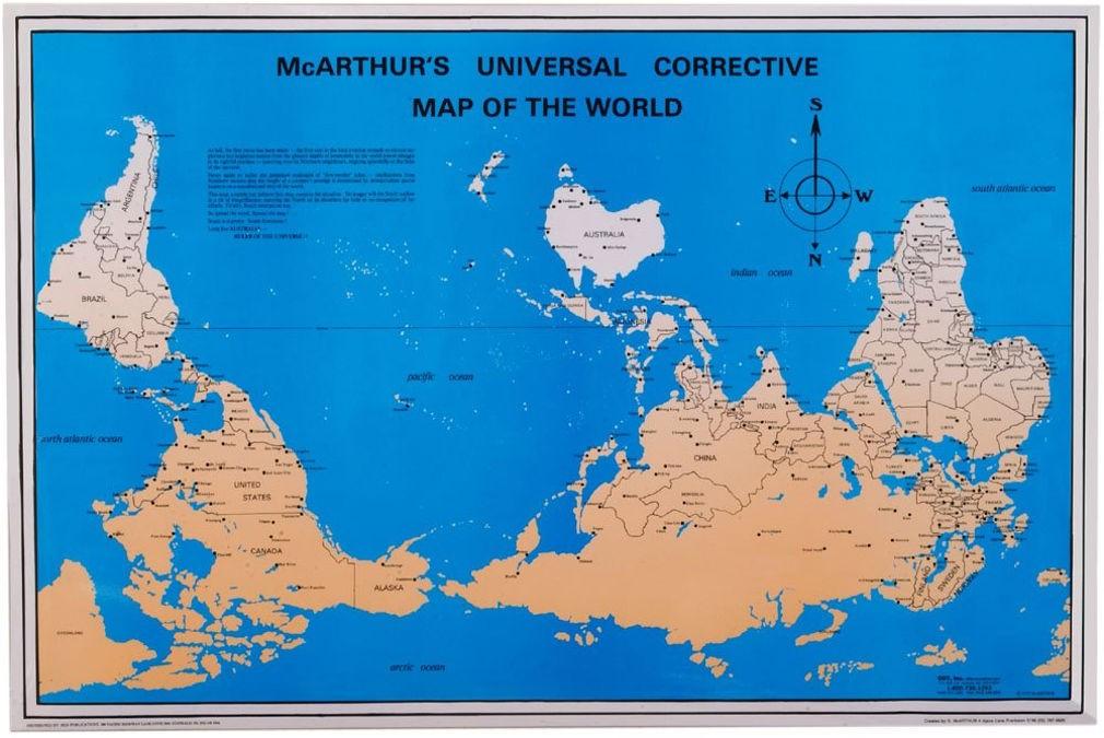 Карта Мира в Австралии