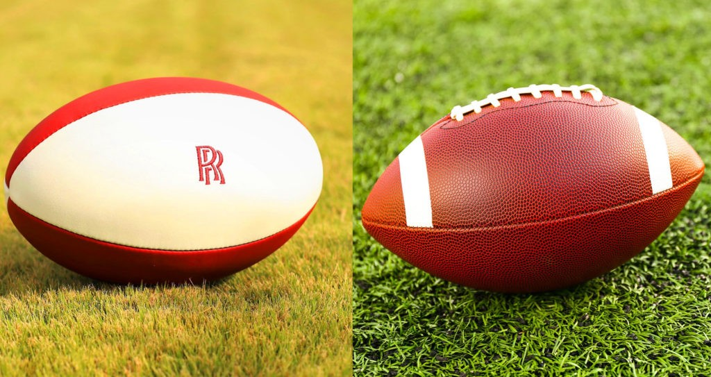 Мяч для регби и американского футбола