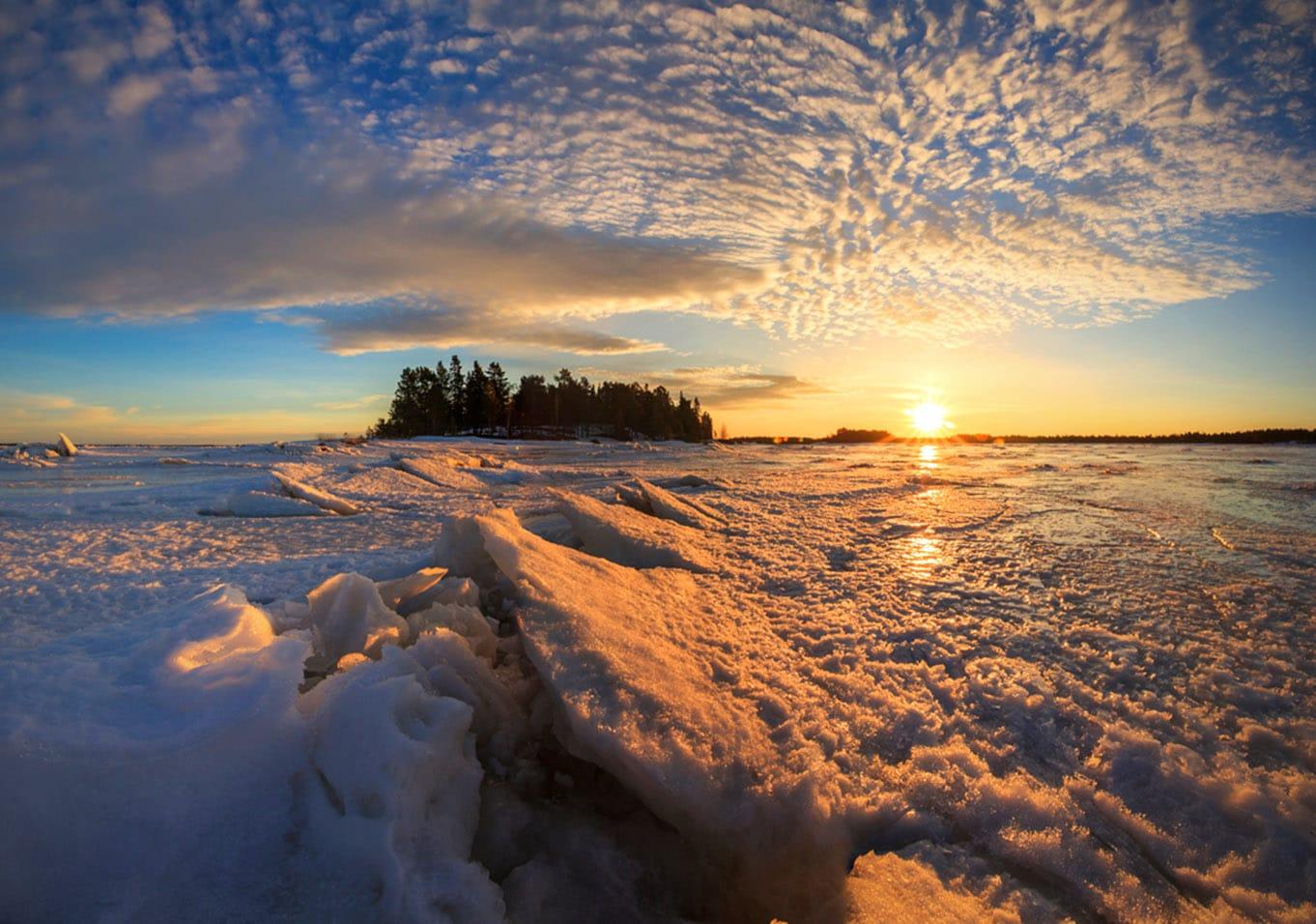 Белое море зимой