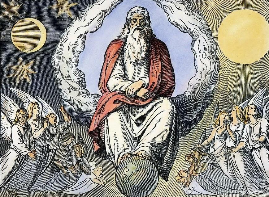 Изображение религиозной теории создания Вселенной