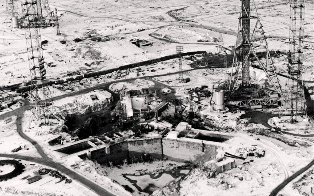 Фотография строительства Байконура
