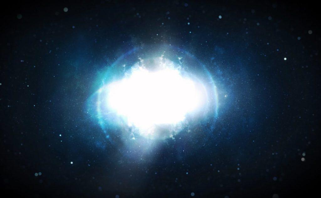 Изображение белой дыры