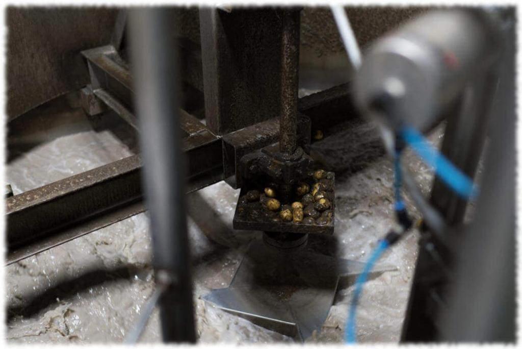 Чистка картофеля от ростков и земли