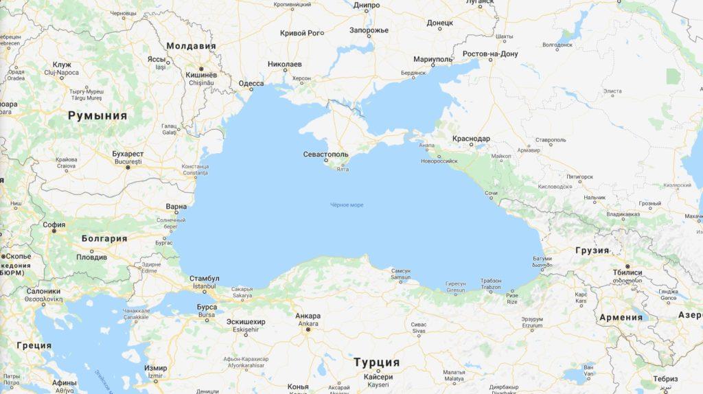 Черное море на карте