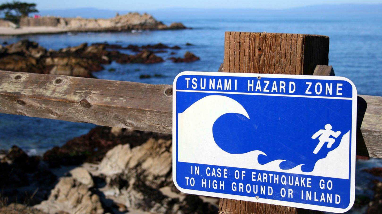 Предупреждение о возможности цунами