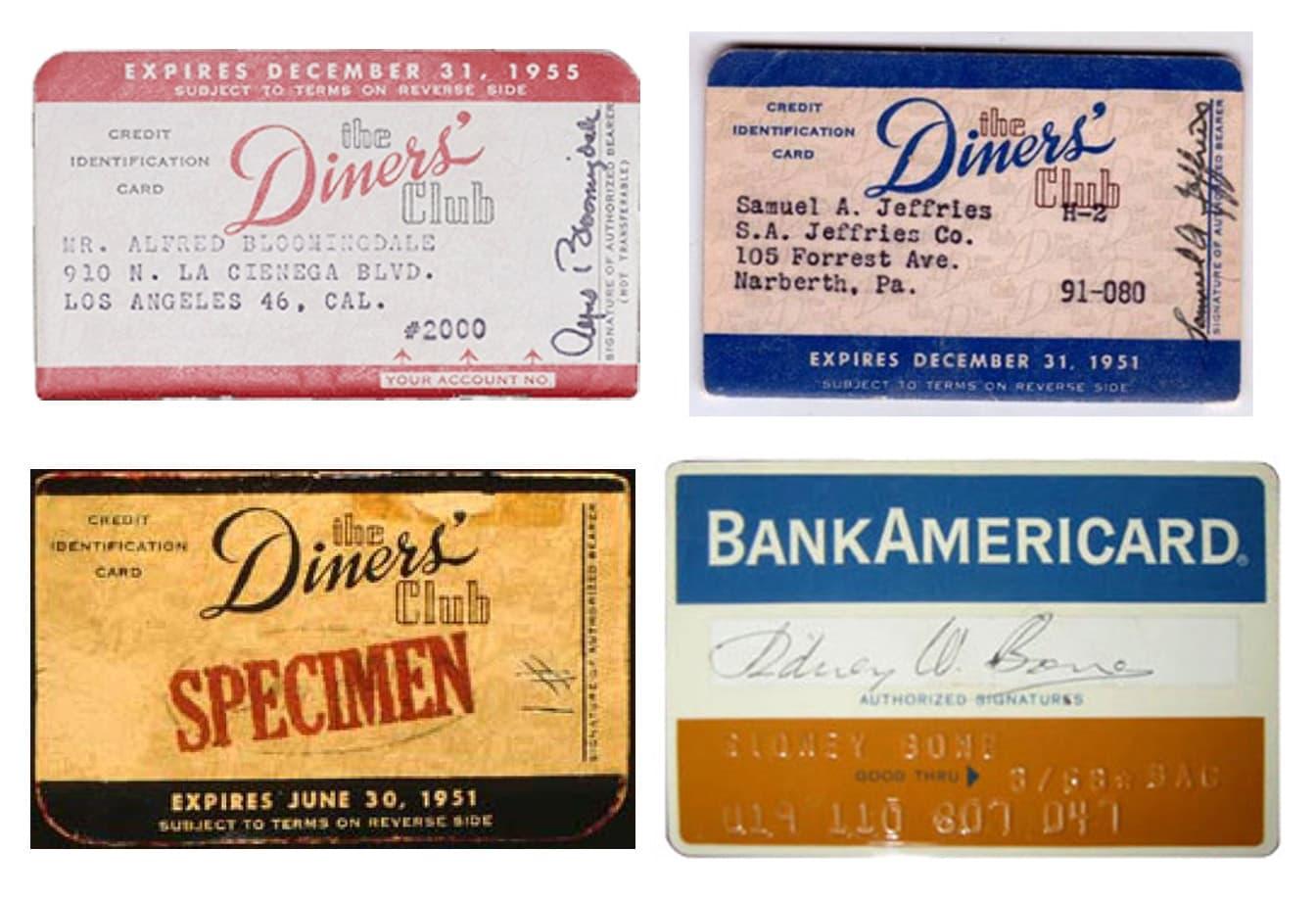 Карты Diners Club и первая карта BankAmericard