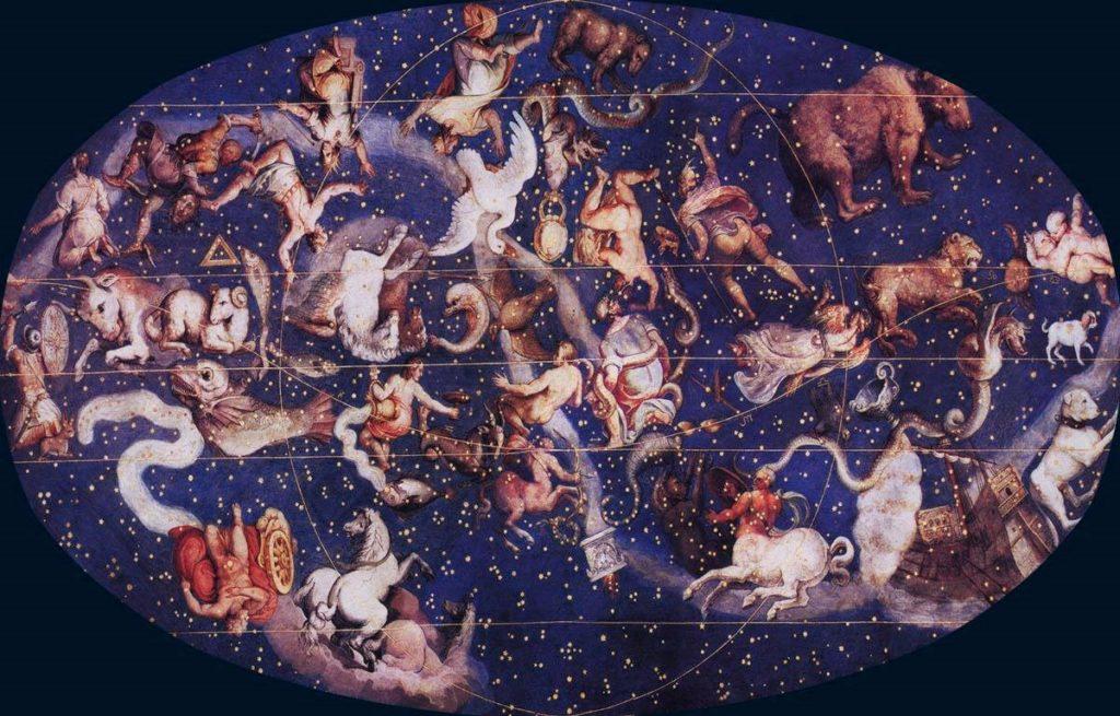Древнегреческие герои мифов на звездном небе