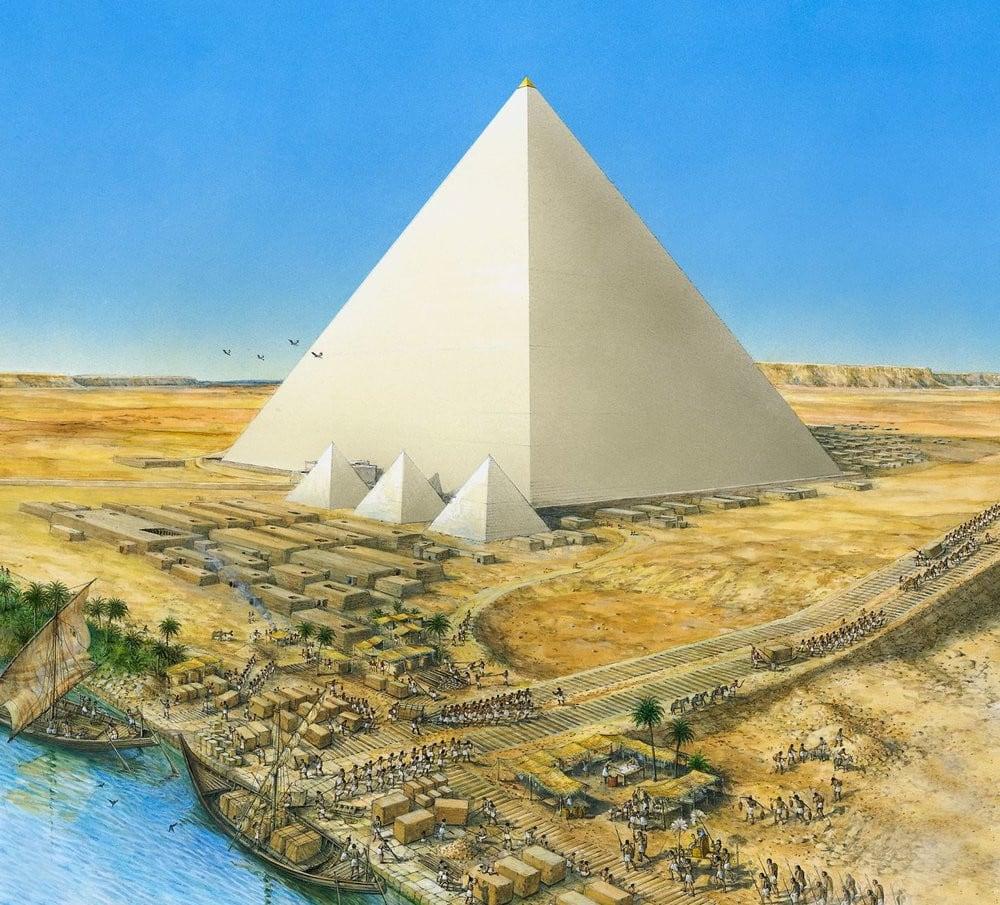 Пирамиды - реконструированный облик