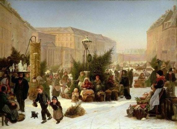 Елочный базар при Петре Первом
