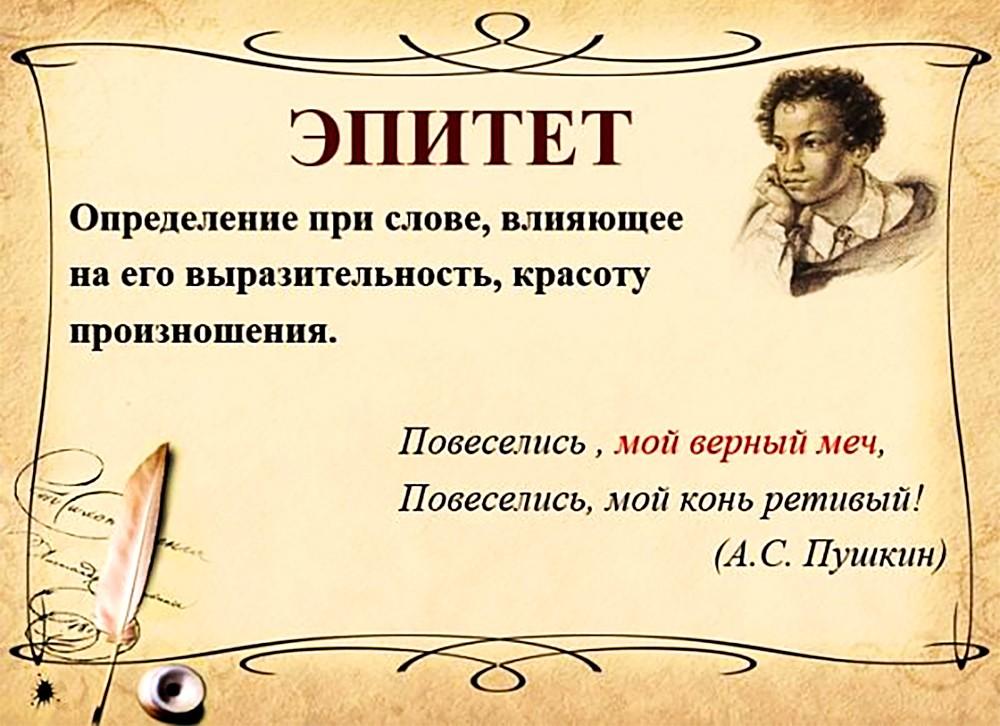 Эпитет на примере творчества А.С. Пушкина