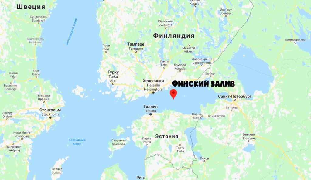 Финский залив на карте