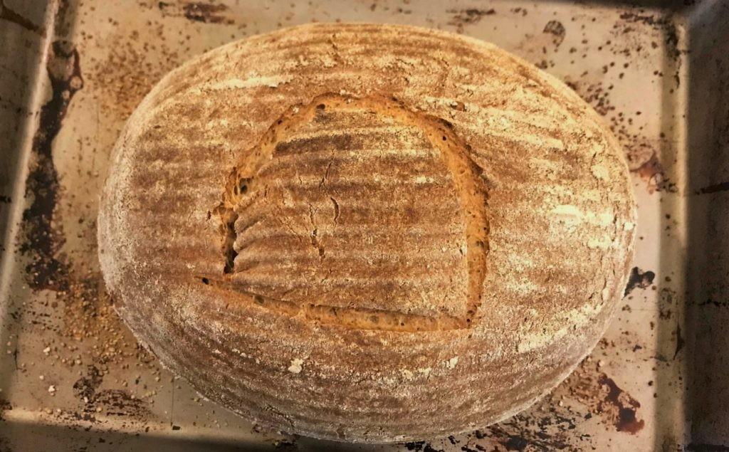 Фото хлеба, испеченного из египетских дрожжей, которым примерно 4500 лет