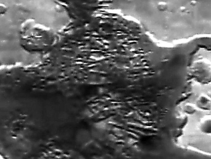 Кадры, сделанные советским зондом «Фобос-2» на Марсе в районе Hydraotes Chaos (0.9°N, 34.3°W)