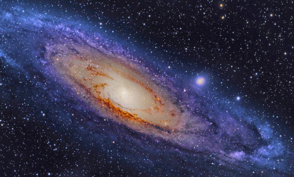 Галактика Андромеда и межгалактическое пространство вокруг нее