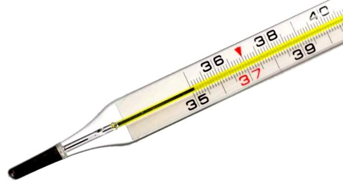 Почему в медицинском градуснике ртуть не опускается при охлаждении?