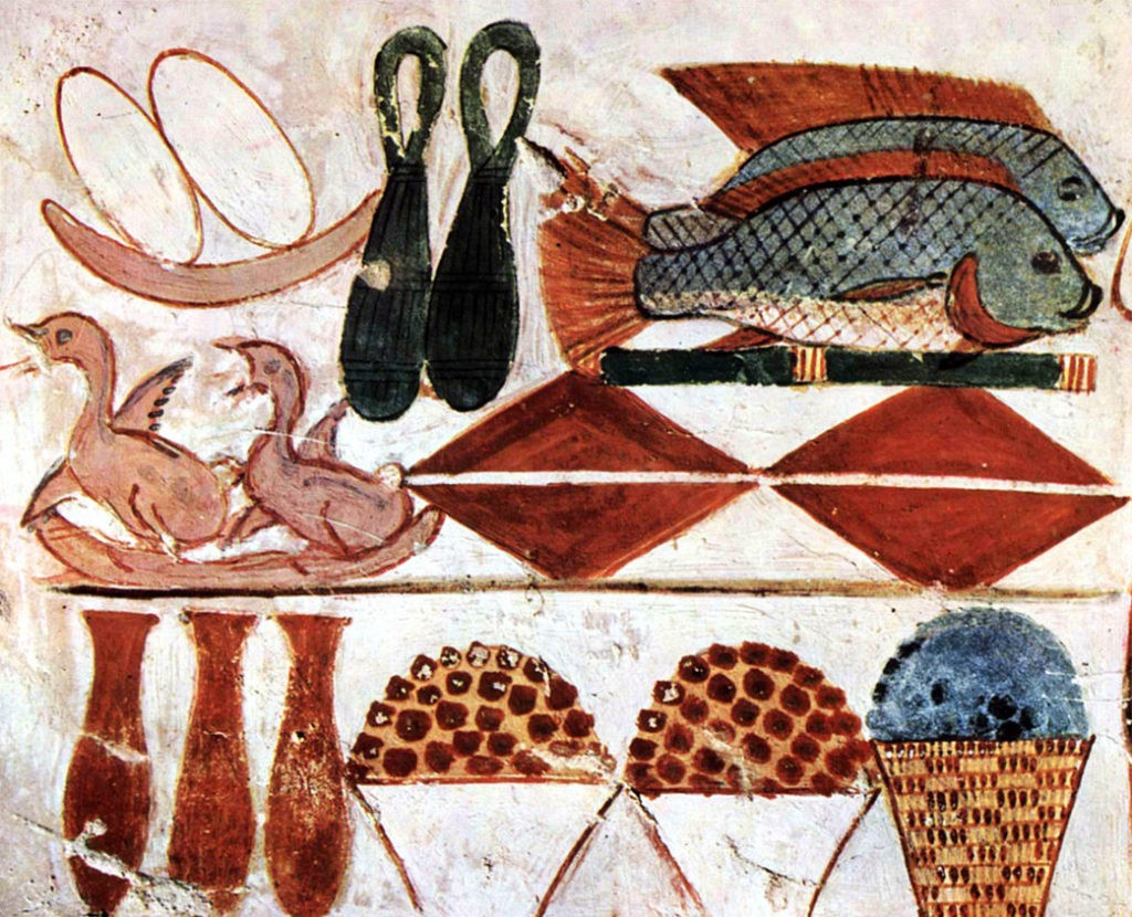Изображение из гробницы Менны (1422-1411 годы до н.э.)