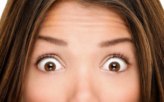 Почему от удивления округляются глаза?