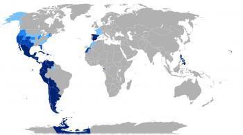 Распространение испанского языка