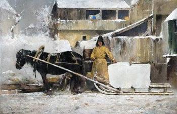 Заготовка льда - Похитонов И. П.