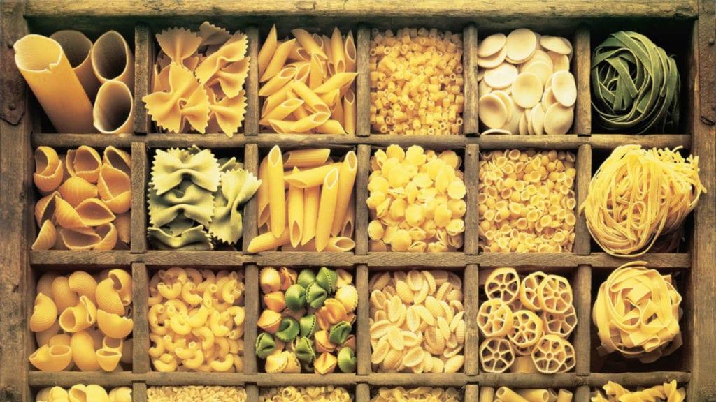 Итальянская паста, виды макарон