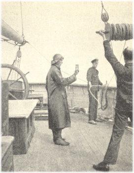 Измерение скорости корабля