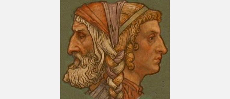 Древнеримский бог начал Янус