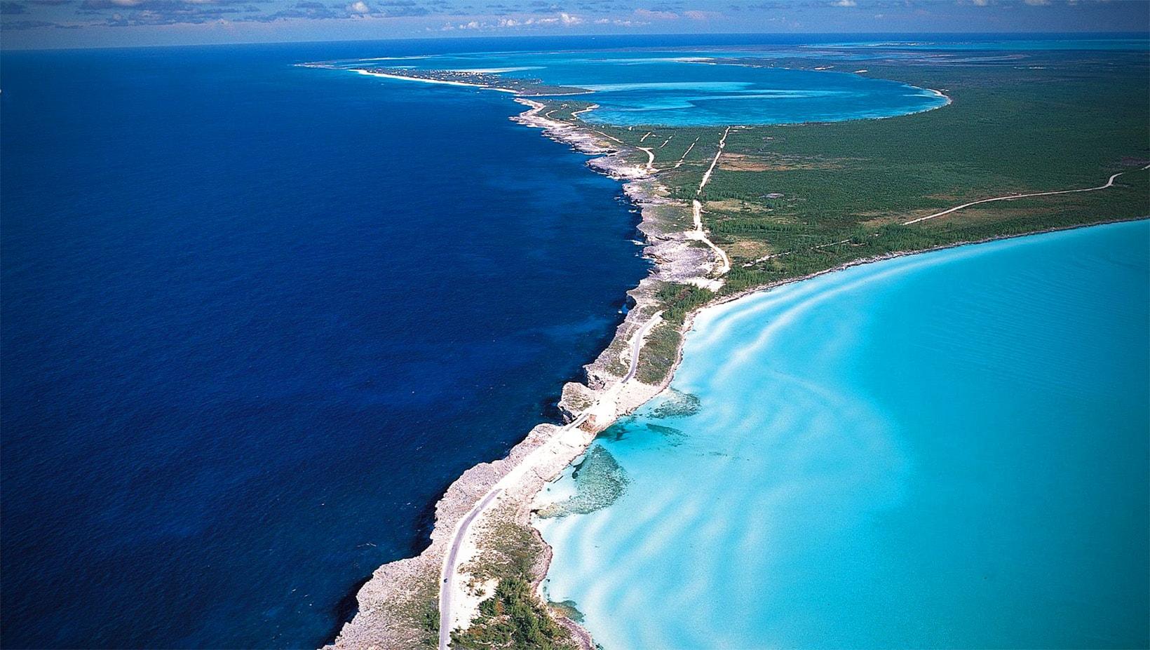 Место встречи Карибского моря и Атлантического океана