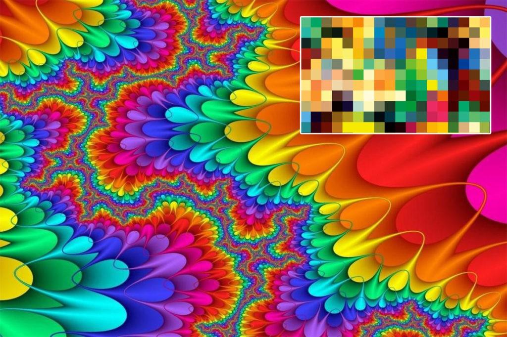 Миллионы пикселей образуют изображение