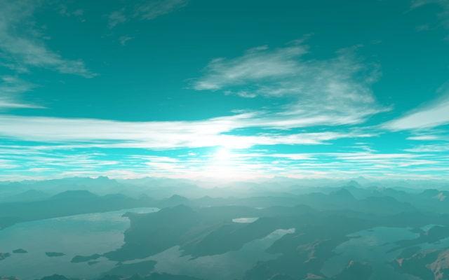 Предполагаемый восход на планете Kepler-22 b