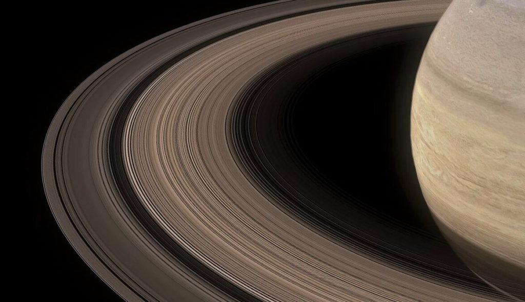 Наглядное изображение колец Сатурна