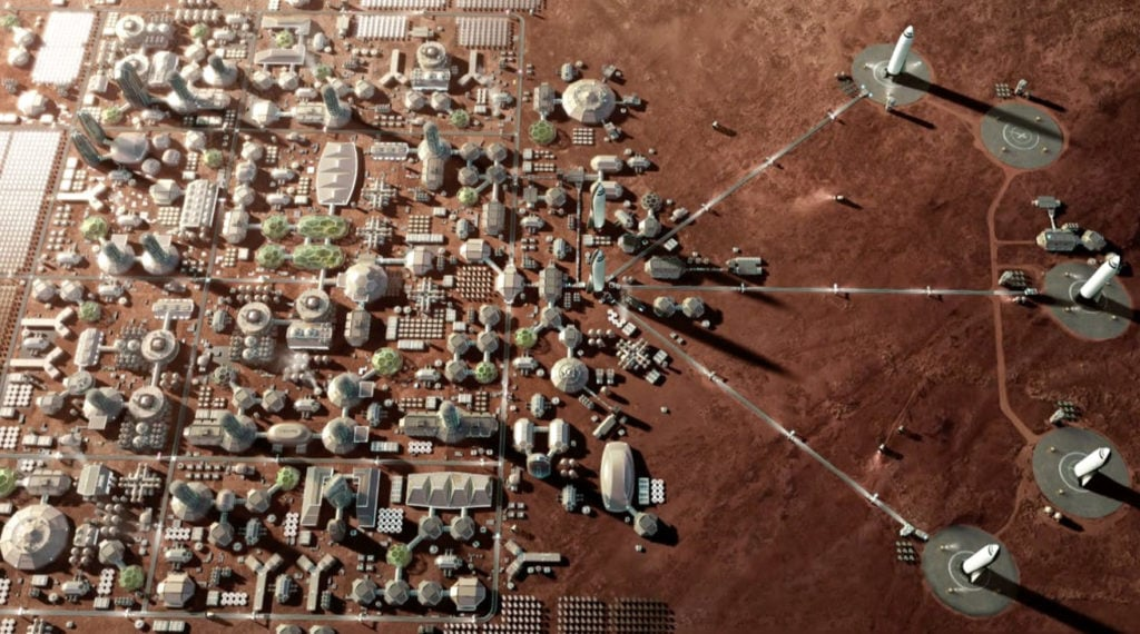 Будущие колонии на Марсе
