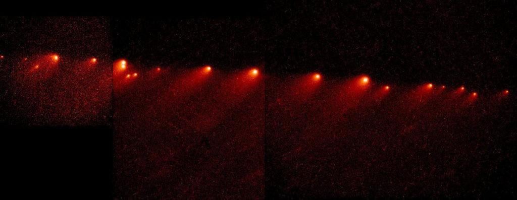 Комета Шумейкеров — Леви 9, представлявшая собой цепочку фрагментов