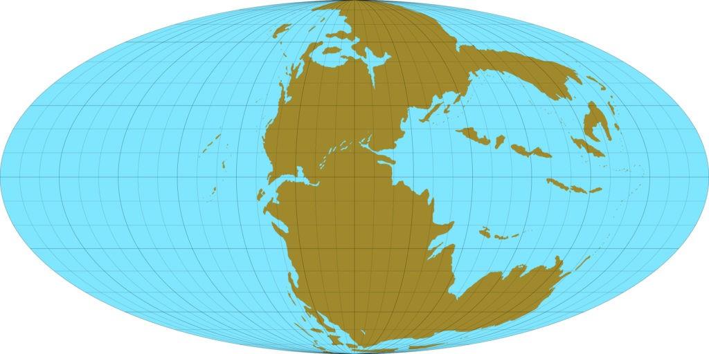 Континенты в триасовый период
