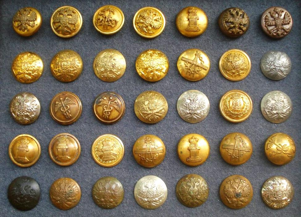 Коллекция старинных пуговиц
