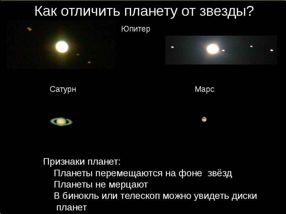 Как отличить звезду от планеты?