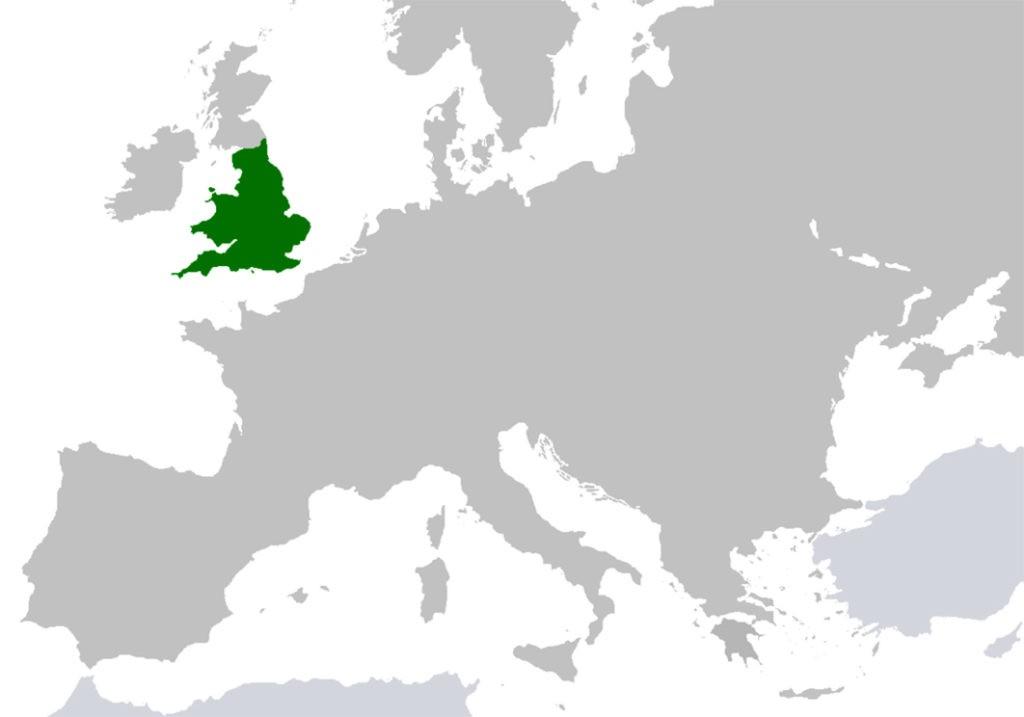 Территория Королевства Англия (825 -1707)