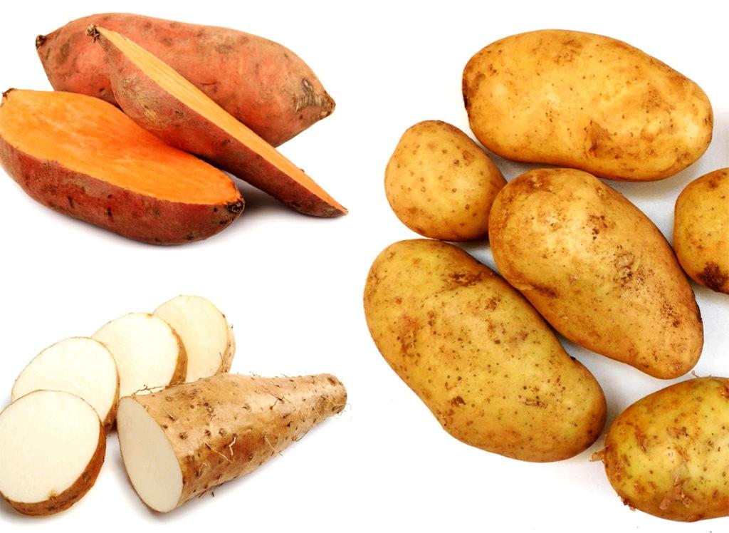 Картофель, батат и ямс (тропическое клубнеплодное растение)