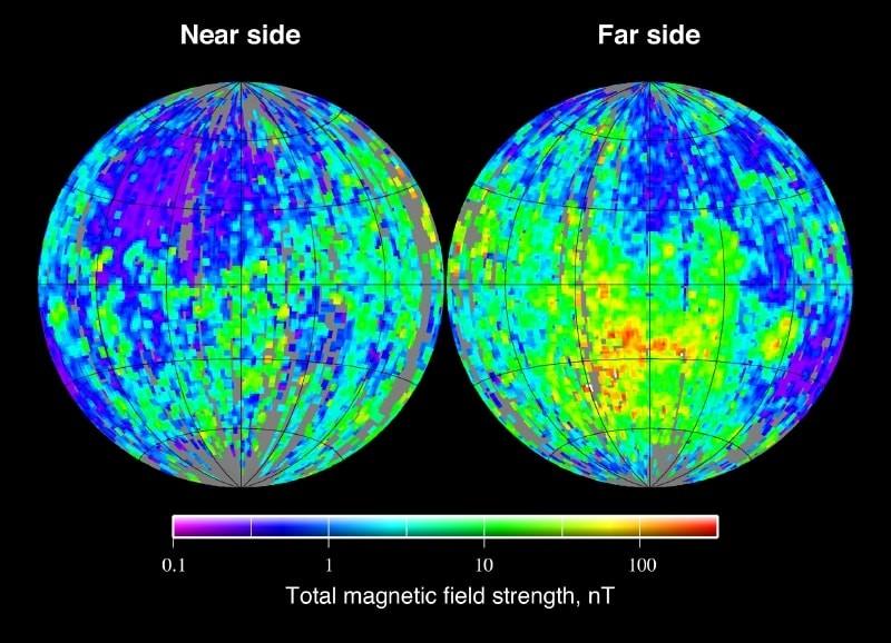 Карта магнитных полей Луны