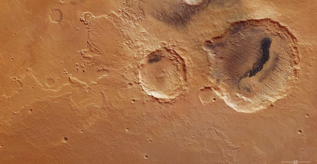 Кратеры от метеоритов на Марсе