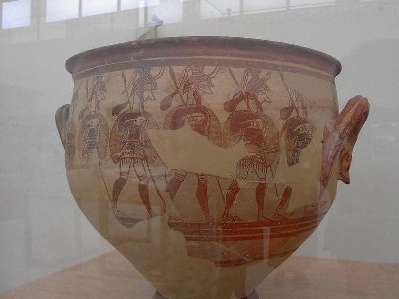 «Кратер воинов» - древнегреческий сосуд. Национальный археологический музей. Афины