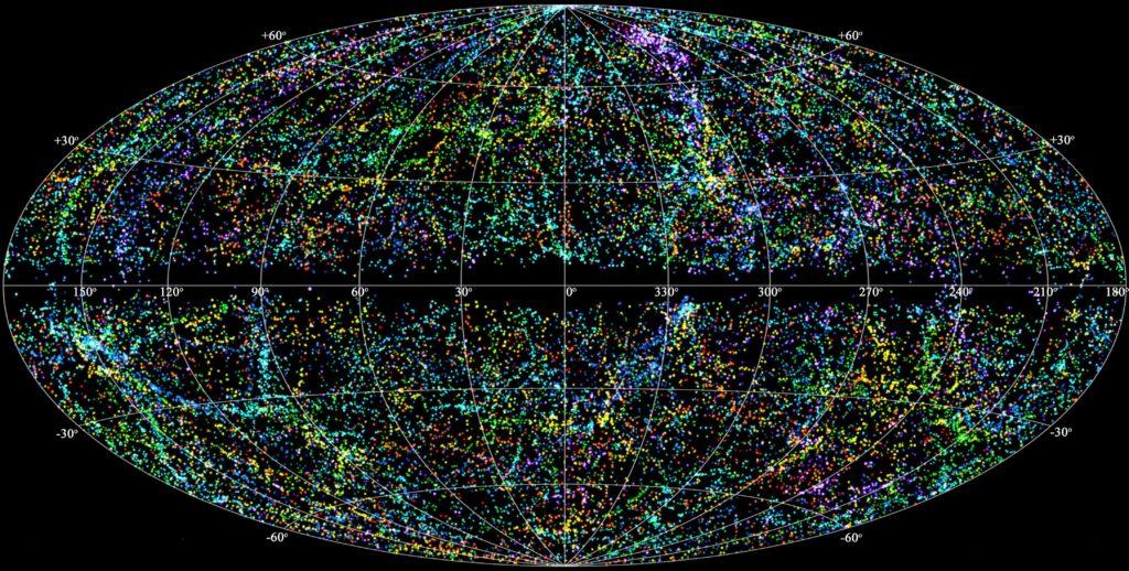 Карта видимых границ Вселенной