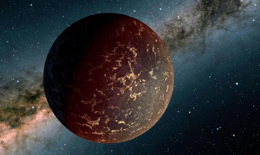 Модель экзопланеты LHS 3844b