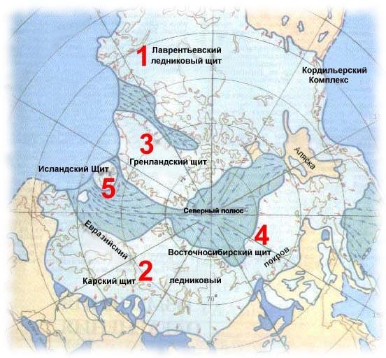 Ледниковые щиты Евразии