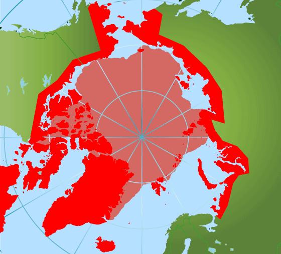 Ареал обитания белого медведя