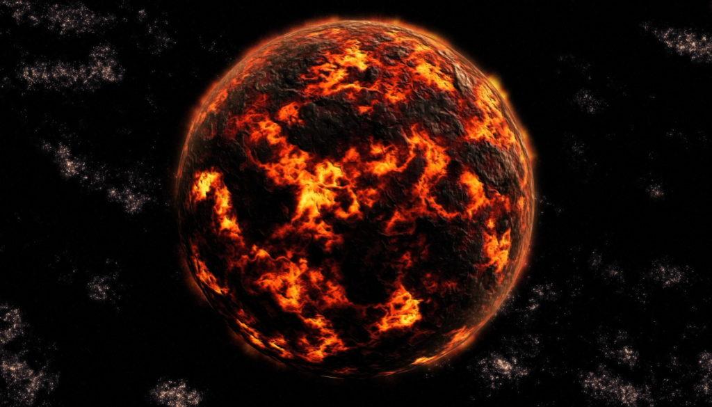 Изображение Земли на ранних этапах формирования
