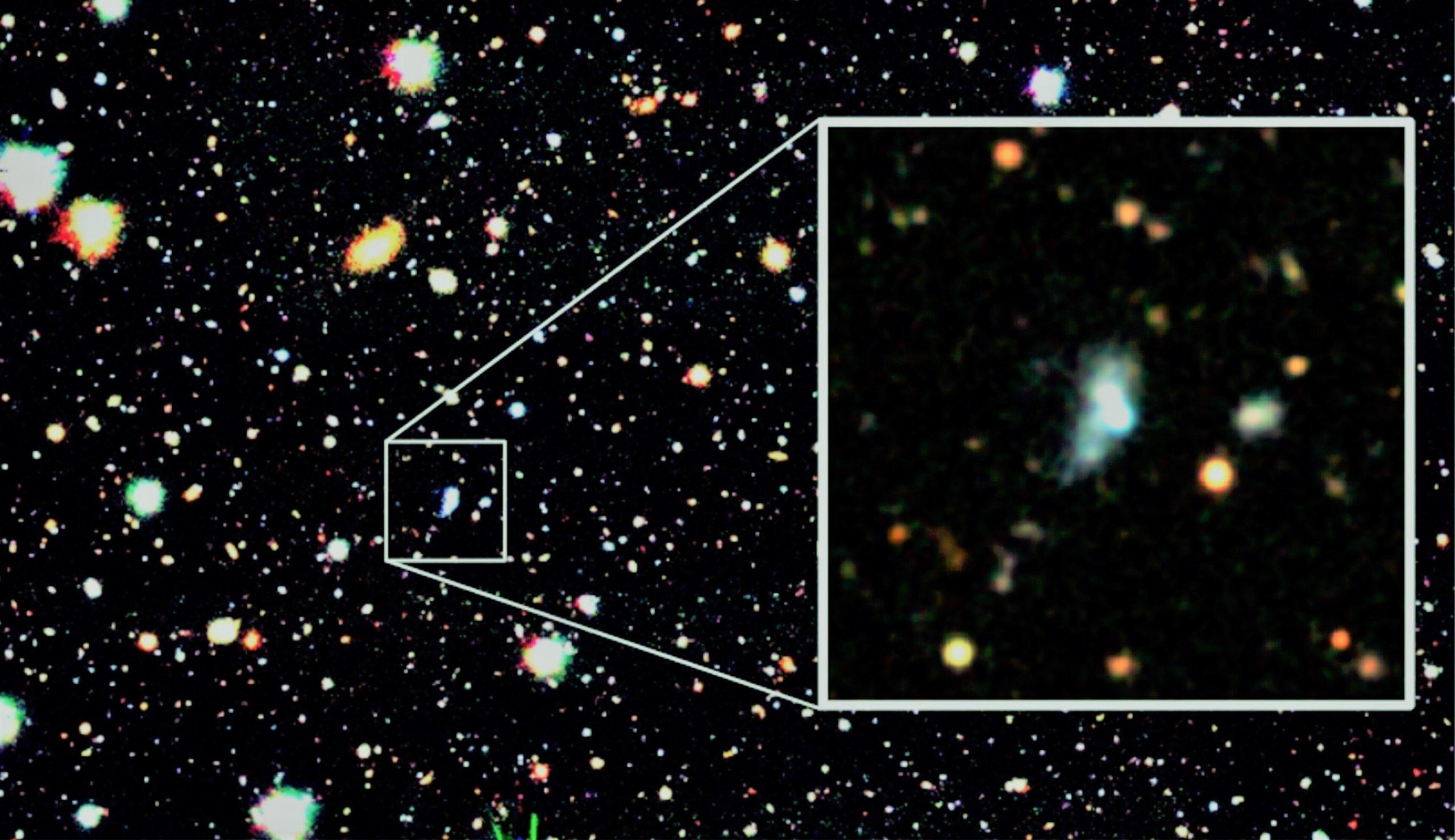 С помощью машинного обучения найдена молодая галактика