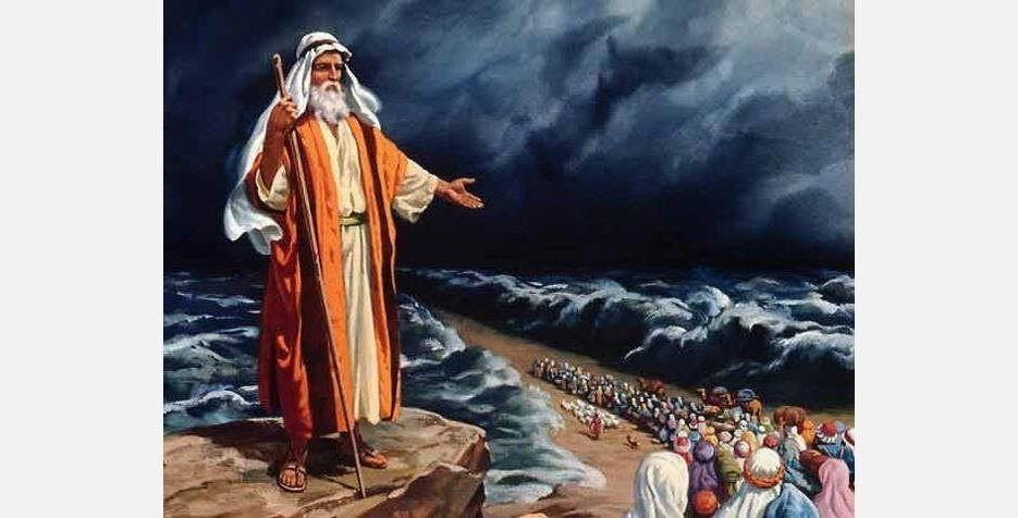 Красное море расступилось перед пророком Моисеем и его народом