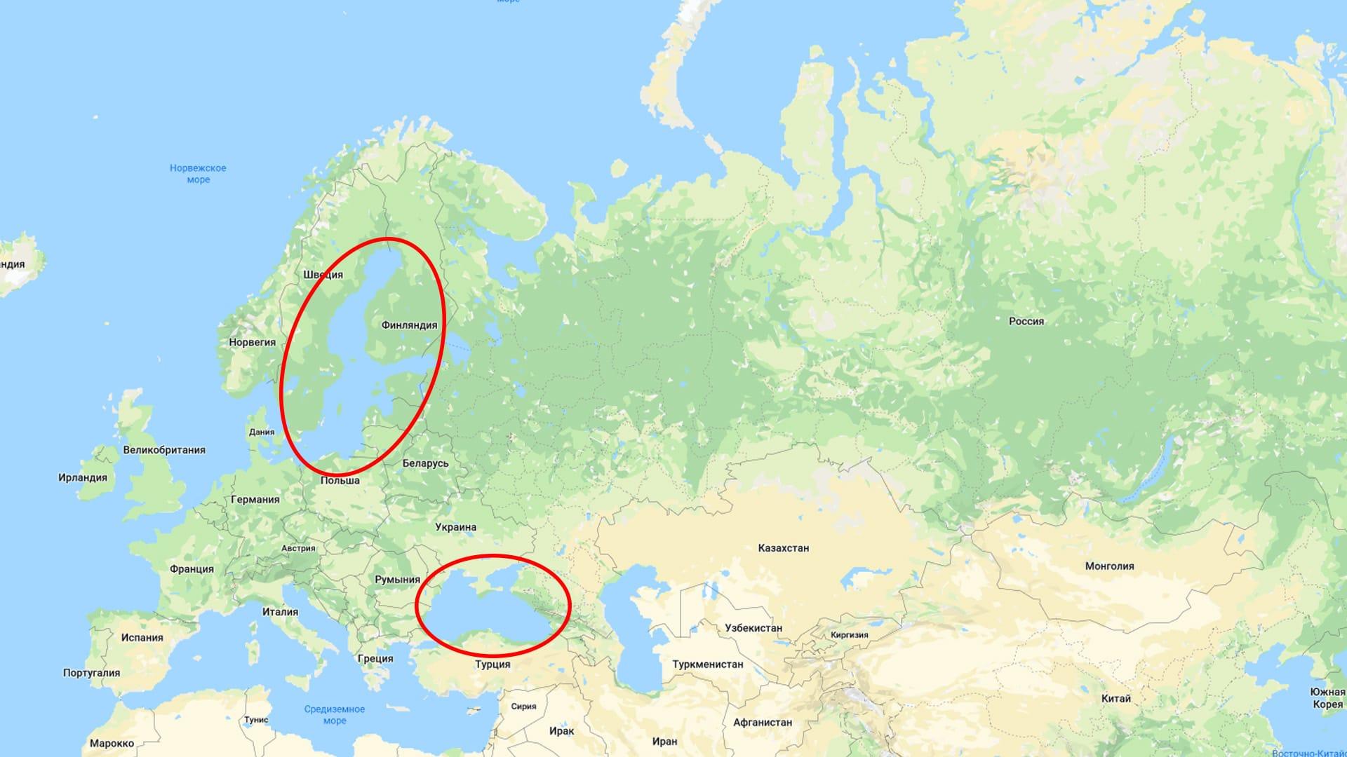 Моря Атлантического океана, омывающие Россию