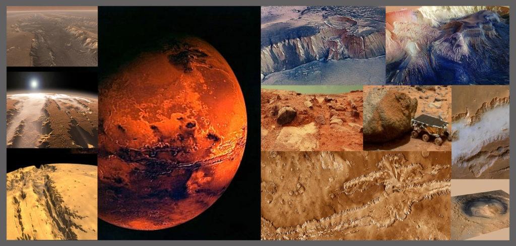 «Моря» и «материки» на Марсе